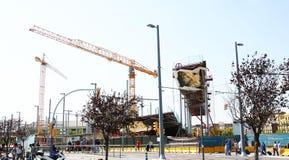 Construction of the Nuevos Encantes or Fira de Bellcaire of Barcelona. Catalunya, Spain Stock Photos