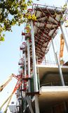 Construction of the nuevos encantes or Fira de Bellcaire. Barcelona, Catalonia, Spain Royalty Free Stock Image