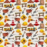 Construction object seamless pattern Stock Image