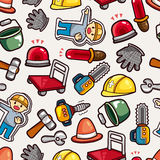 Construction object seamless pattern Royalty Free Stock Photos