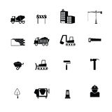 Construction objects icons vector Stock Photos