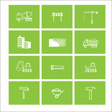 Construction objects icons vector windows Stock Images