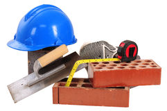 Construction objects. Isolated Stock Photography