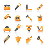 Construction objects and tools icons Royalty Free Stock Image
