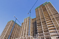 Construction Of A Residential Buildings Royalty Free Stock Photos
