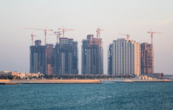 Construction Of Apartment Buildings In Budaiya Bahrain Royalty Free Stock Images
