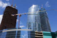 Construction Of Business Center. Moscow. Stock Images
