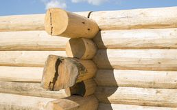Free Construction Of The Handcrafted Scribe Fit Log House Stock Image - 52247611