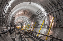 Construction Of The Subway Royalty Free Stock Photos