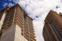 Construction of offce and condo tower Stock Images