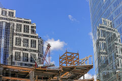 Construction of the office building in Downtown, LA, California Royalty Free Stock Photos