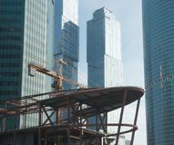 View of the construction site Royalty Free Stock Photography