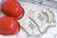 Construction and office objects Royalty Free Stock Photography