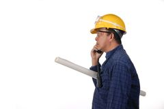Construction and Oil field worker Royalty Free Stock Images