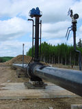 Construction of an oil and gas pipeline. Stock Photo