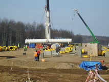 Construction of an oil and gas pipeline. Stock Images