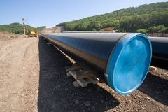 construction oil pipeline Stock Images