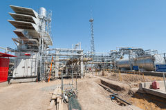 Construction of oil pumping station Royalty Free Stock Photo
