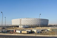 Construction of the Olympic object in Baku Stock Photography