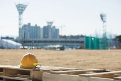 Construction of the Olympic Park in Gangneung. GANGNEUNG, SOUTH KOREA - JANUARY, 2017: Construction of the Olympic Park in Gangneung for the Olympic Games 2018 Royalty Free Stock Photos