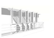 Construction : ombre d'ombre Photographie stock