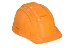 Construction Orange Hard Hat, 3D rendering Stock Photos