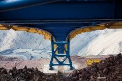 Construction of the ore conveyor Stock Photography