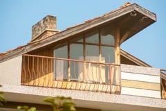 Construction originality in Pomorie, Bulgaria Stock Image