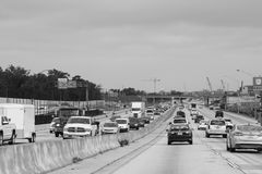 Construction in Orlando, Florida. Interstate 4 east and westbound are undergoing construction to meet the needs as there is a population explosion in Orlando Stock Photography