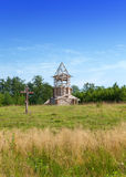 Construction orthodox church on a hill Stock Photography