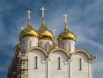Construction of the Orthodox Church. Stock Photo