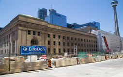 Construction outside Union Station Toronto Stock Images