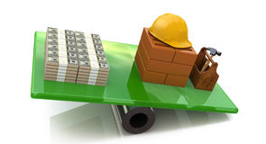 Construction outweighs the money Royalty Free Stock Images