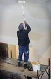 Construction painter. On a platform Stock Images