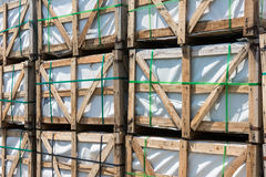 Construction Pallets Stock Photo