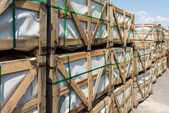 Construction Pallets Royalty Free Stock Photos
