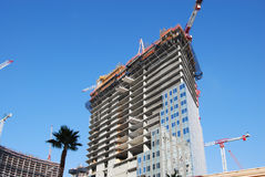 Construction with palms Royalty Free Stock Photos