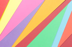Construction paper arranged irregularly Stock Image