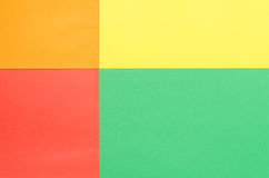 Construction paper arranged in rectangles. Colorful construction paper arranged in rectangles Stock Photography