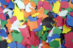 Construction Paper Background. Bright and colorful torn construction paper background Stock Photo