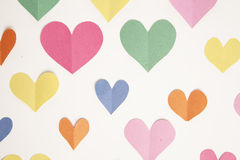 Construction Paper Heart Background Royalty Free Stock Photography