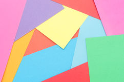 Construction paper thrown together. Colorful construction paper thrown together Stock Images