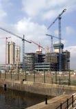 Construction par le dock Photos stock