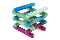 Construction of pastel crayons Royalty Free Stock Photos