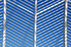 Construction Pattern. The metallic pattern of a decoration construction outside a stadium royalty free stock photos