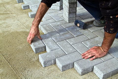 Construction of pavement Royalty Free Stock Images