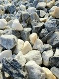 Construction pebbles background. Stones for construction. stock images