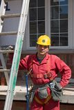 Construction people. Perov worker on site royalty free stock photo