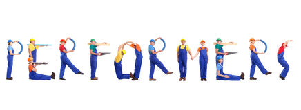 Construction performers Royalty Free Stock Image