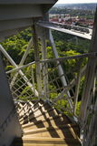 Construction of the Petrin lookout tower in Prague, Czech Republic Royalty Free Stock Photos